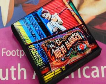 Mini Canvas Magnet - La Boca, Buenos Aires, Argentina