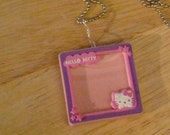 Hello Kitty Picture Frame Necklace on Ball Chain