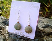 Natural Earring-Earth Earring in Jasper and glass