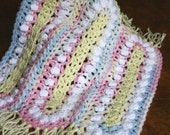 Crochet baby doll blanket afghan 12 inch square