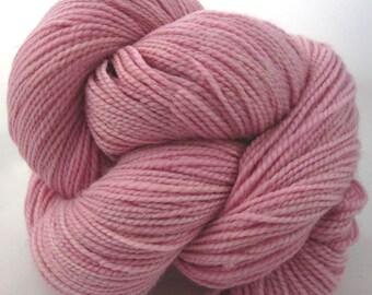 Merino Wool  Sock Yarn-Fingering Weight-Hand Dyed Superwash-400 Yards, 100 grams-Raspberry