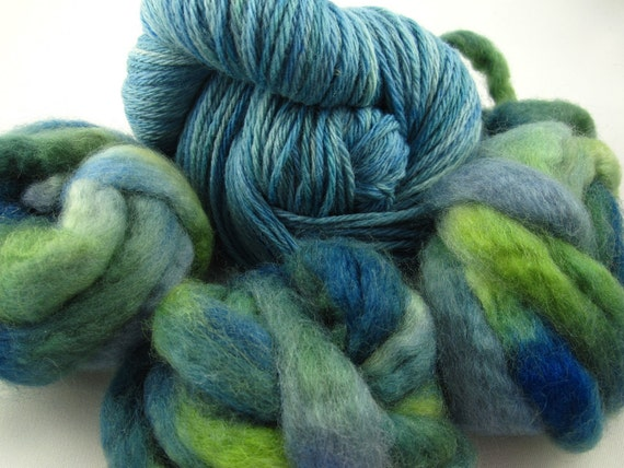 Thrum Mittens Kit, Pattern, 217 Yards Handpainted Wool Yarn, Approximately 2 Ounces of Wool