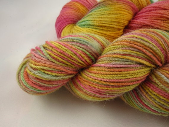 Merino/Suri Alpaca Sock Yarn-DK Weight-Hand Dyed -327 Yards, 100 grams-Raspberry