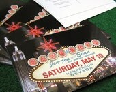 Custom Las Vegas Save the Date Postcards - Set of 100