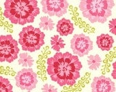 Sandi Henderson Farmers Market Fabric Medallion Bloom in Pink 1 yd PinkFig