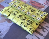 Tape Measure Coin Pouch in Bright Yellow