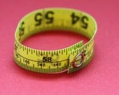Tape Measure Bracelet in Bright Yellow