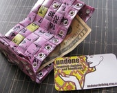 Tri-Fold Tape Measure Wallet Purple and Yellow