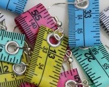 Five Pack of Tape Measure Earrings in Various Colors