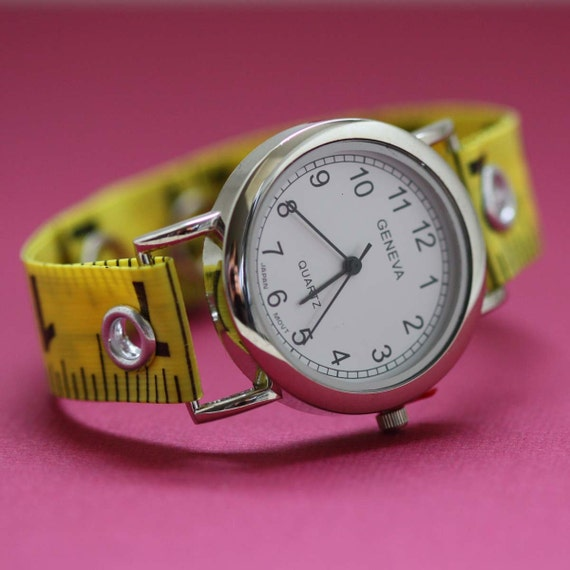 Tape Measure Watch in Yellow