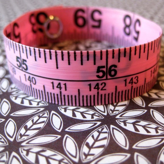 Tape Measure Bracelet in Pink