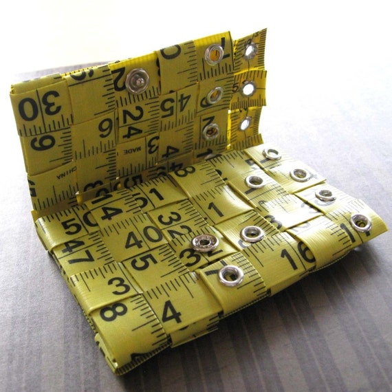 Tri-Fold Tape Measure Wallet in Bright Yellow