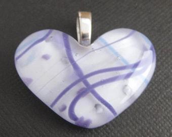 Violet Purple Heart Pendant, Pendant Slide, Couples Jewelry, Heart Jewelry - Breezy - 3150 -2
