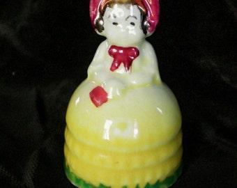 Vintage Little Girl Porcelain Ceramic Bell