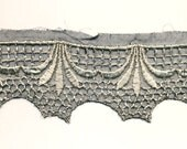 Vintage Pre WW I Black and White Lace Trim - Reduced price