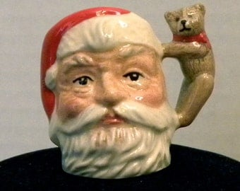 Royal Doulton Tiny Santa Claus Character Jug Mug with Teddy Bear Handle