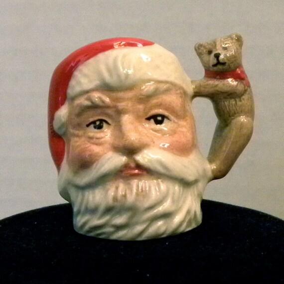 Royal Doulton Tiny Santa Claus Character Jug Mug with Teddy Bear Handle
