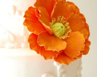 Couture Clay - Made to Order Large Clay Poppy Cake Flower