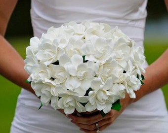 Couture Clay - Gardenia Wedding Bouquet - Made to Order