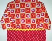 ART SMOCK CHILD Craft  Create Apron Red Yellow Clowns