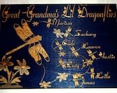 FOR NICOLE Grandmas/Mommy/ or aunties Lil Dragonflies Personalized 8in x 10in Wooden Sign
