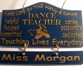 Personalized Wooden Dance Ballet Teacher Wall Hanging  - Great Gifts for Dance Teachers - Etsy Finds