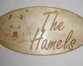 Personalized Family Sign w/ a Picture Of The Family's Dog Breed