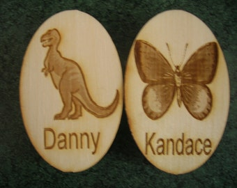 Personalized Wooden  Engraved Magnet