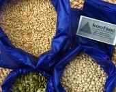 Reusable bulk food bags, reusable snack bags, market shopping bags, 3 lightweight ripstop bags, small, medium, large