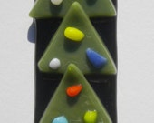 Christmas Tree fused glass Christmas Ornament by JJ Jacobs