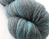 Hathor in Teal - hand dyed merino/tencel laceweight knitting yarn - UK Seller