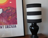 Black and White Ginger Jar Lamp - Small