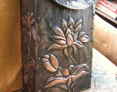 Waterlily Copper Tooled Mailbox
