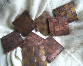 Copper Weaved Coasters