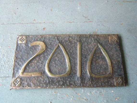 Mission Style House Number Plaque