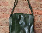 RESERVED for aselfportrait Deep Emerald Green Handbag