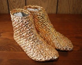 Gold 60s Soft-Soled Ankle Boots