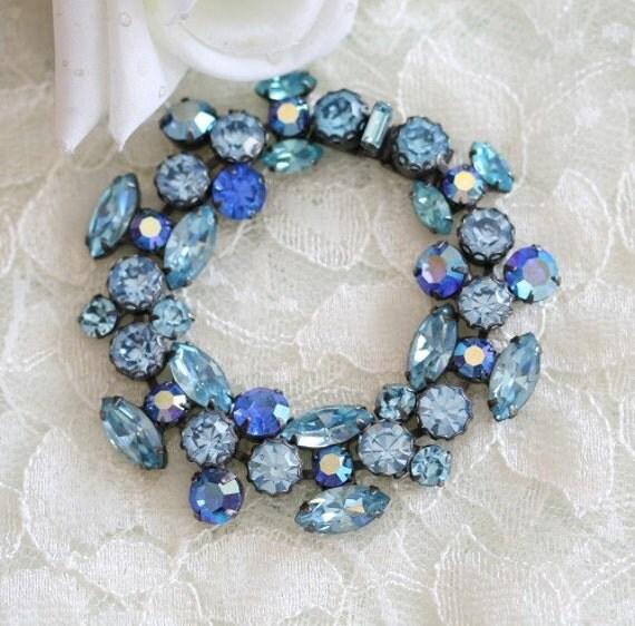 SALE Calleigh, signed Regency bracelet, by KD Design Studio,  wedding, bride, bridal, mother of the bride, rhinestone, Regency