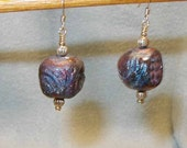 Raku - Brass Earrings