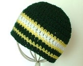 Childs Green Bay Packers Team Colors Striped Beanie