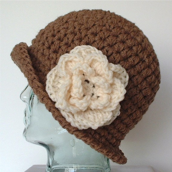 My Favorite Hat in Milk Chocolate Brown with White Chocolate Flower