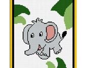 INSTANT DOWNLOAD Chella Crochet Elephant in Jungle Afghan Crochet Pattern Graph 100st .pdf