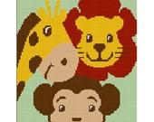 INSTANT DOWNLOAD Chella Crochet  Baby ZOO Jungle Safari Animals Afghan Crochet Pattern Graph