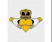 INSTANT DOWNLOAD  Chella Crochet Claddagh Irish Love  Afghan Crochet Pattern Graph Chart .PDF