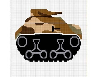 INSTANT DOWNLOAD Chella Crochet Camouflage Tank Military Afghan Crochet Pattern Graph