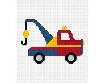 INSTANT DOWNLOAD Chella Crochet Toy Tow Truck Afghan Crochet Pattern Graph 100st Easy .pdf