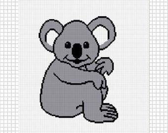INSTANT DOWNLOAD Chella Crochet Koala Bear Afghan Crochet Pattern Graph