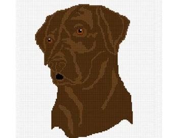 INSTANT DOWNLOAD Chella Crochet Chocolate Lab Labrador Dog Afghan Crochet Pattern Graph