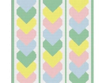 Chella Crochet Baby Linked Hearts CHOOSE YOUR COLOR Afghan Crochet Pattern Graph 100st .pdf
