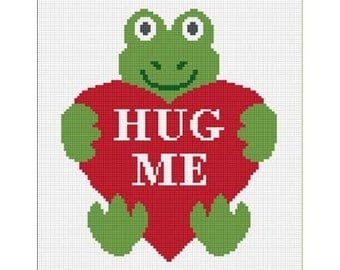 INSTANT DOWNLOAD Chella Crochet Baby Frog with Heart Hug Me Afghan Pattern Graph Lapghan Throw Blanket